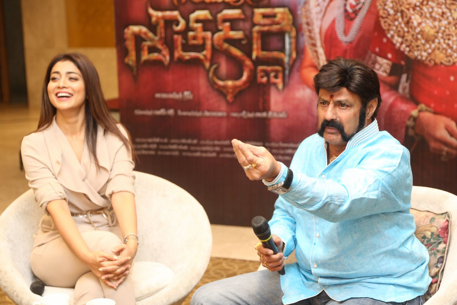Brand new photo stills From the recent promotional event of Gautamiputra Satakarni   Gautamiputra Satakarni Brand New Stills From Promotional Event of Gautamiputra Satakarni 6R3B3179 1600x1067