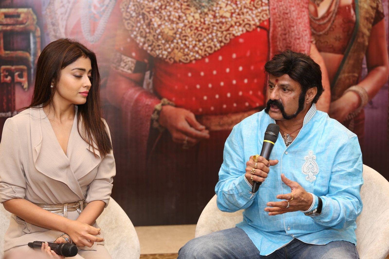 Brand new photo stills From the recent promotional event of Gautamiputra Satakarni   Gautamiputra Satakarni Brand New Stills From Promotional Event of Gautamiputra Satakarni GPSK Shriya Saran Balakrishna 117