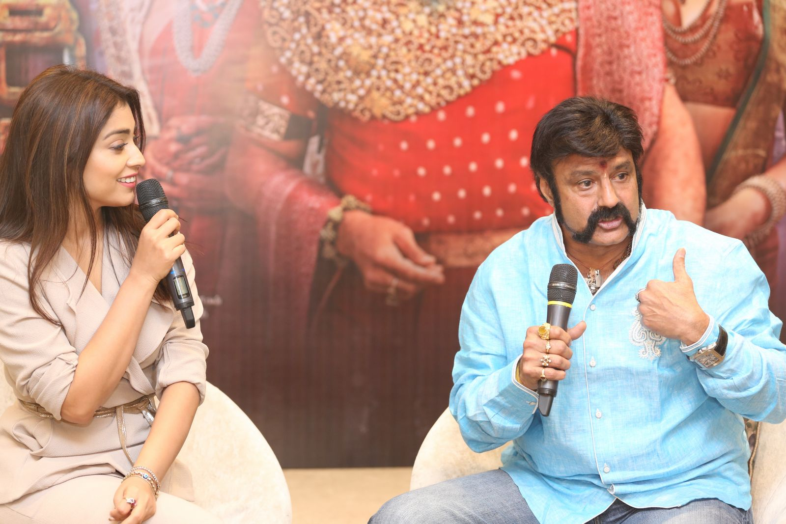 Brand new photo stills From the recent promotional event of Gautamiputra Satakarni   Gautamiputra Satakarni Brand New Stills From Promotional Event of Gautamiputra Satakarni GPSK Shriya Saran Balakrishna 293