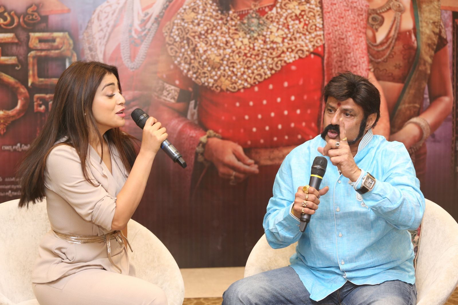 Brand new photo stills From the recent promotional event of Gautamiputra Satakarni   Gautamiputra Satakarni Brand New Stills From Promotional Event of Gautamiputra Satakarni GPSK Shriya Saran Balakrishna 298