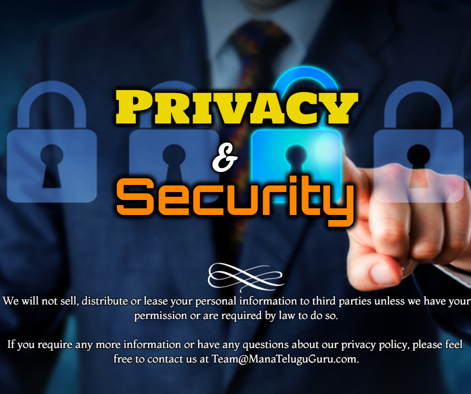 Privacy privacy and security